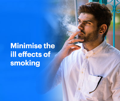 minimise the ill effects of smoking